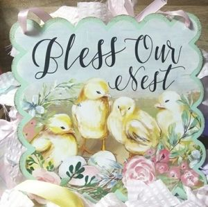 Bless Our Nest Shabby Chic Sign